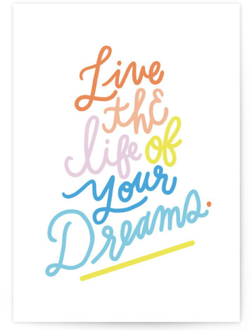 Dream On Individual Kid's Birthday Greeting Cards