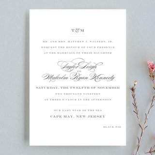 Charming Go Lightly Wedding Invitation Petite Cards