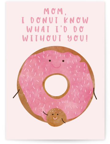 Donut know Mom Individual Mother's Day Greeting Cards