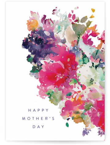 Floral Individual Mother's Day Greeting Cards