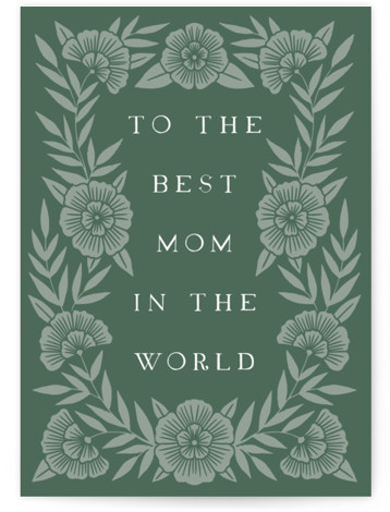 Bold Floral Mom Individual Mother's Day Greeting Cards