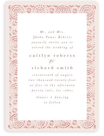 Terracotta Wedding Invitations