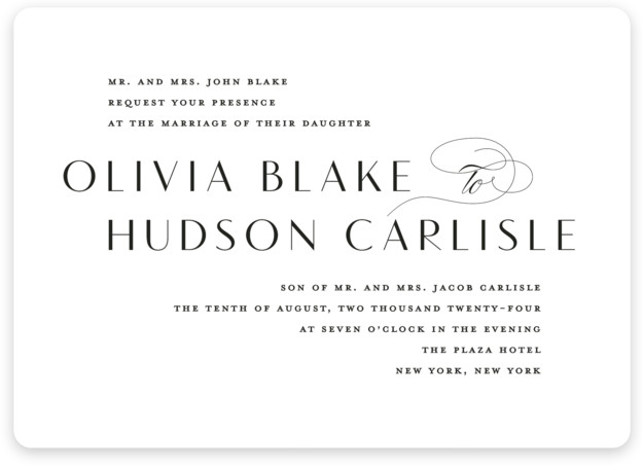 Plaza Wedding Invitations