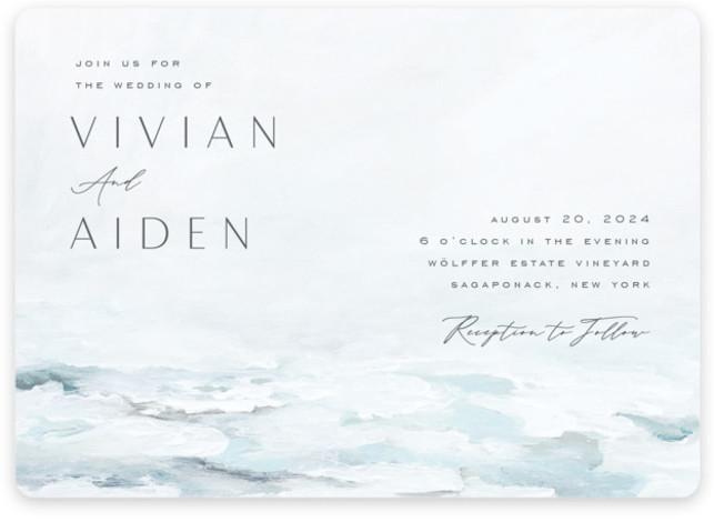 At Sea Wedding Invitations
