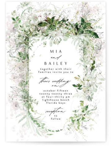 Lush Greenery Wedding Invitations