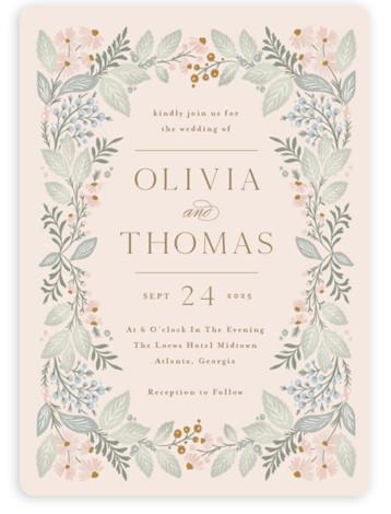 Wild Flora Wedding Invitations