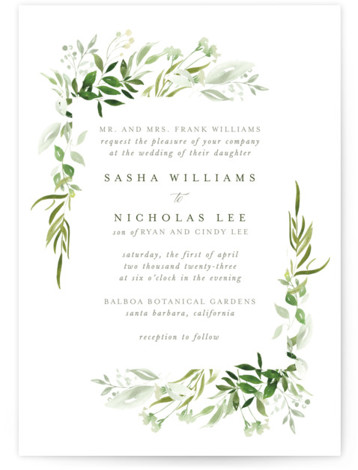 Verdure Wedding Invitations