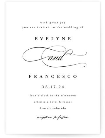 Blancmange Wedding Invitations