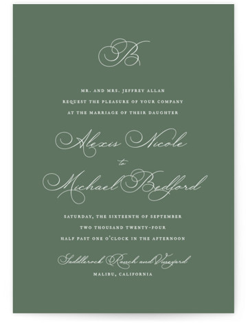 Initial Wedding Invitations