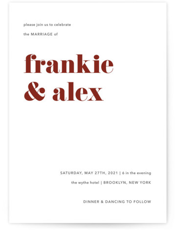 Letters Wedding Invitations
