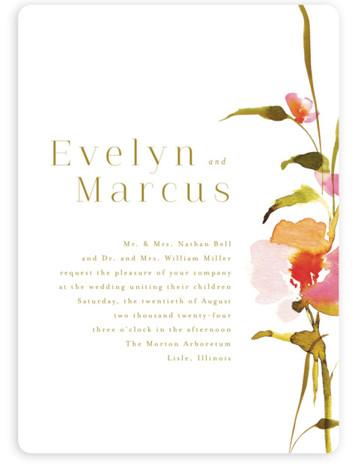 colorwash floral Wedding Invitations