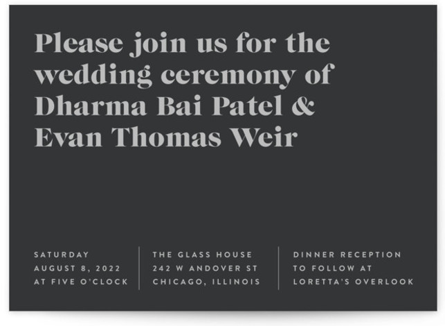 headline Wedding Invitations