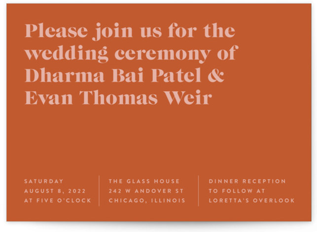 headline Wedding Invitations
