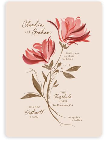 Painterly Florals Wedding Invitations
