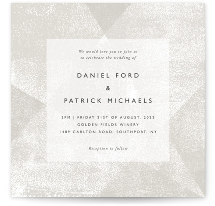 Elegantly Minimal Wedding Invitations