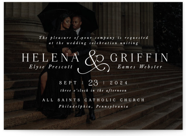 And here we are Wedding Invitations