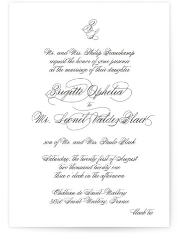 One and Only Wedding Invitations