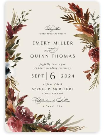 Poetique Wedding Invitations