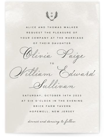 Elegant Crest Wedding Invitations