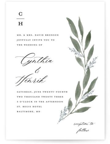 Pressed Foliage Wedding Invitations
