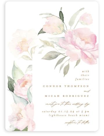 beautiful peonies Wedding Invitations