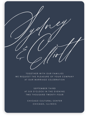 By Your Side Wedding Invitations