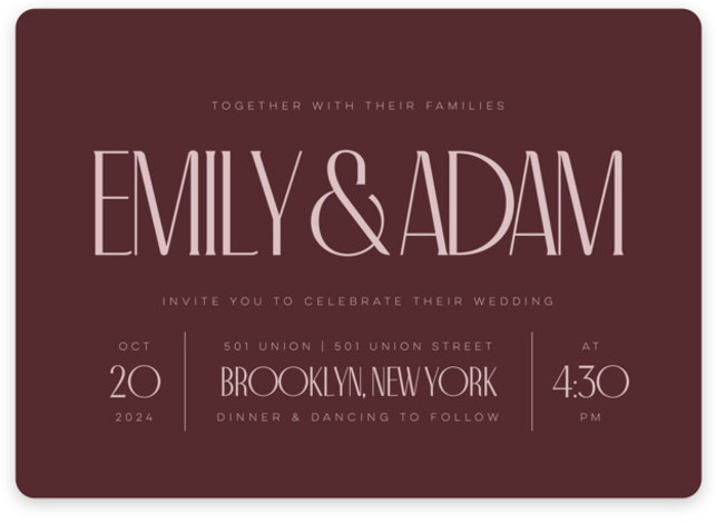 Classic Touch Wedding Invitations