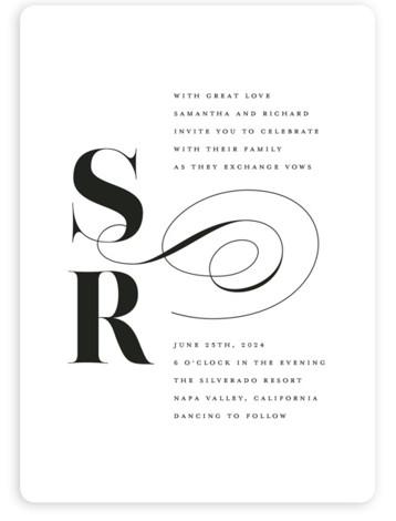 whimsical ampersand Wedding Invitations