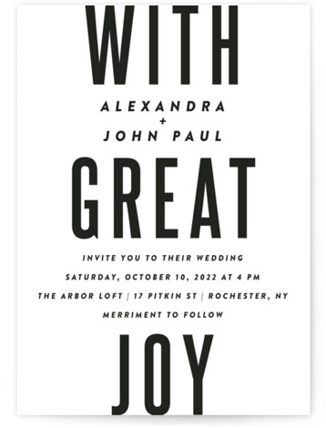 With Great Joy Wedding Invitations