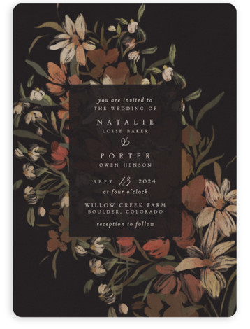 Fall Garden Bouquet Wedding Invitations