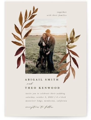 botanical portrait Wedding Invitations
