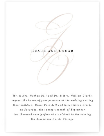 front and center Wedding Invitations