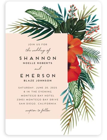 Tropical Oasis Wedding Invitations