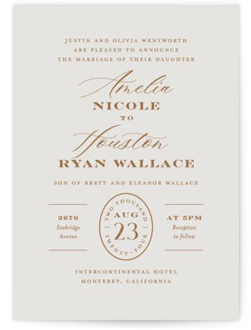 Date Stamp Wedding Invitations