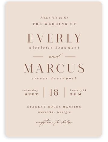 Everly Wedding Invitations