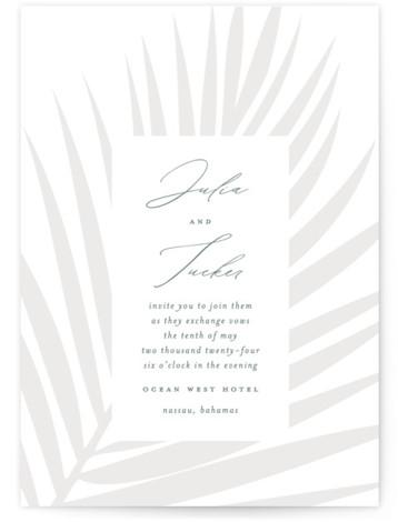 Faded Palm Wedding Invitations