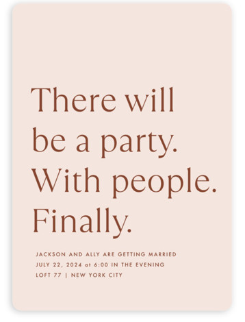There Will Be a Party Wedding Invitations