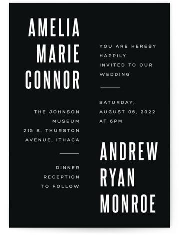 Offset Wedding Invitations