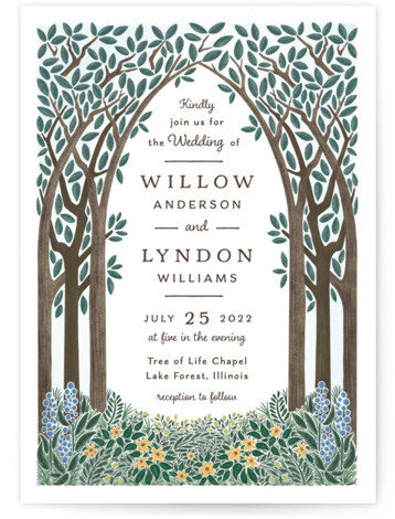 Nature's Chapel Wedding Invitations