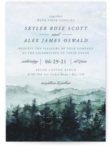mountain wedding Wedding Invitations