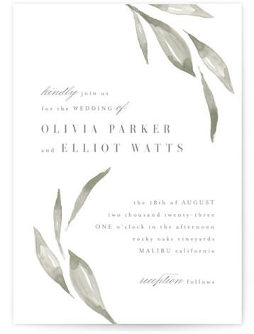 Whispered Leaves Wedding Invitations
