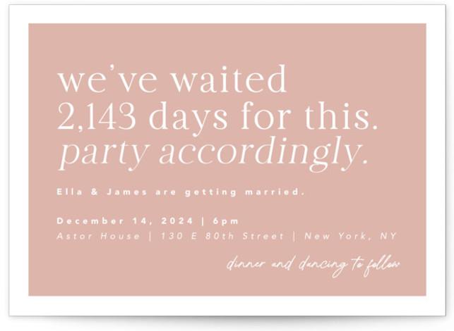 Party Accordingly Wedding Invitations