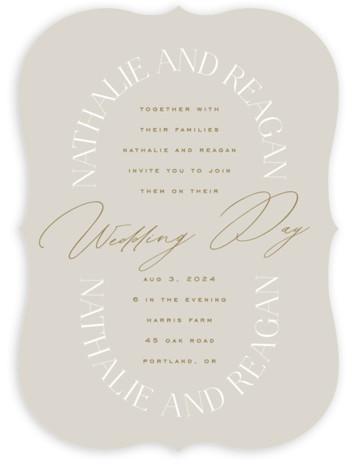 Oval Wedding Invitations