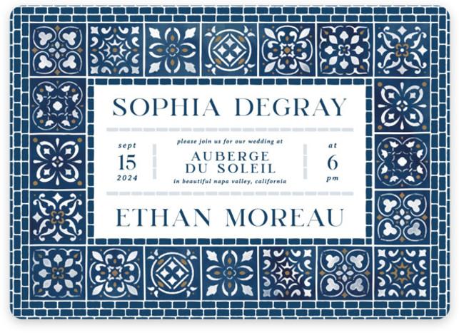 Mediterranean Tiles Wedding Invitations