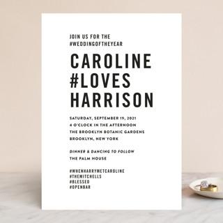 Open Bar Wedding Invitations