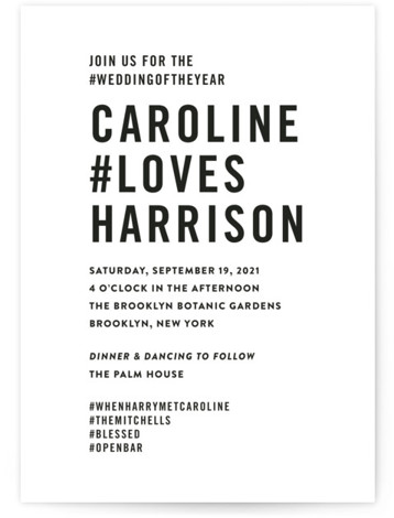 open bar Wedding Invitations