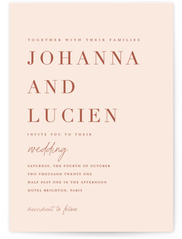 Classic refresh Wedding Invitations