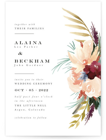 rustic florals Wedding Invitations
