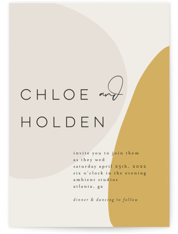 Organic shapes Wedding Invitations