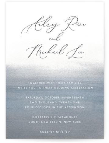 Romantic Watercolor Wedding Invitations